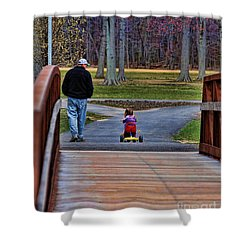 Family - A Father's Love Shower Curtain by Paul Ward
