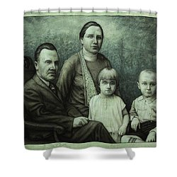 Family Portrait Shower Curtain by James W Johnson