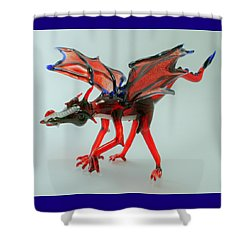 Fang Shower Curtain by Rosanne Wellmaker