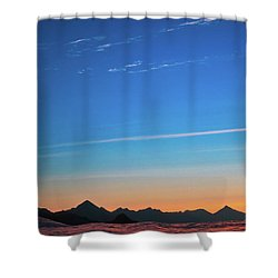 Far Mountains Shower Curtain by Konstantin Dikovsky