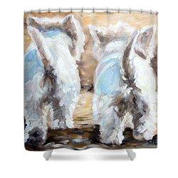 Farewell Shower Curtain by Mary Sparrow