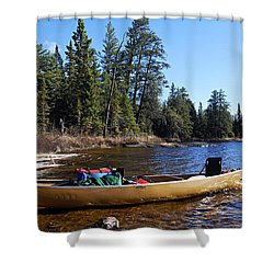 Farewell To Hope Lake Shower Curtain by Larry Ricker