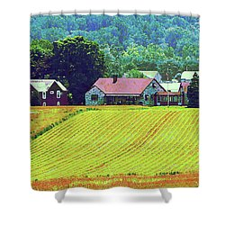 Farm Homestead Shower Curtain by Susan Savad