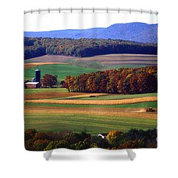 Farm Near Klingerstown Shower Curtain by USDA and Photo Researchers