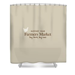 Farmers Market Shower Curtain by Nancy Ingersoll