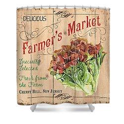 Farmer's Market Sign Shower Curtain by Debbie DeWitt