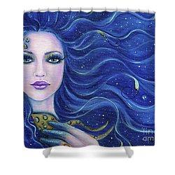 Fatal Beauty Mermaid Art Shower Curtain by Renee Lavoie