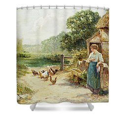 Feeding Time Shower Curtain by Ernest Walbourn