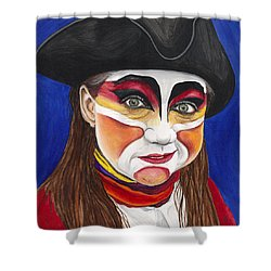 Female Carnival Pirate Shower Curtain by Patty Vicknair