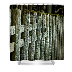 Fenced In Shower Curtain by Sebastian Musial