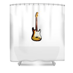 Fender Stratocaster 65 Shower Curtain by Mark Rogan