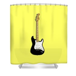Fender Stratocaster Blackie 77 Shower Curtain by Mark Rogan