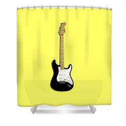 Fender Stratocaster Blackie 77 Shower Curtain by Mark Rogan