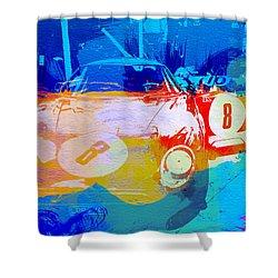 Ferrari Pit Stop Shower Curtain by Naxart Studio