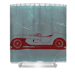 Ferrari Testa Rosa Shower Curtain by Naxart Studio