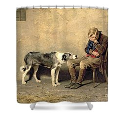 Fidelity Shower Curtain by Briton Riviere