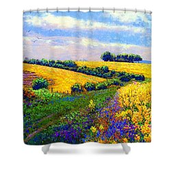 Fields Of Gold Shower Curtain by Jane Small
