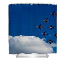 Fighter Jet Shower Curtain by Martin Newman