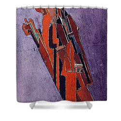 Figure Study Design For Sculpture Shower Curtain by Lawrence Atkinson