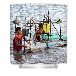 Filipino Fishing Shower Curtain by James BO  Insogna