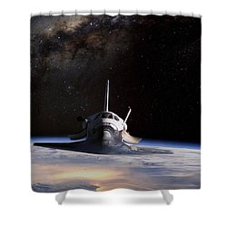 Final Frontier Shower Curtain by Peter Chilelli
