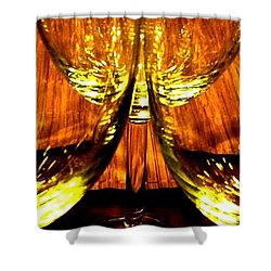 Fine Wine And Dine 3 Shower Curtain by Will Borden