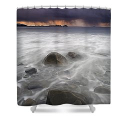 Fingers Of The Storm Shower Curtain by Mike  Dawson