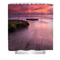 Fingers Of The Tide Shower Curtain by Mike  Dawson