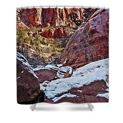 Fire And Ice Shower Curtain by Christopher Holmes