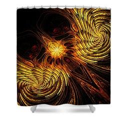Firebird Shower Curtain by John Edwards