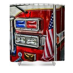 Fireman - Fire Truck Shower Curtain by Paul Ward