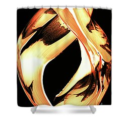 Firewater 1 - Buy Orange Fire Art Prints Shower Curtain by Sharon Cummings