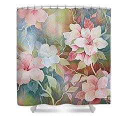 First Blush Shower Curtain by Deborah Ronglien