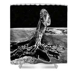 First Men On The Moon Shower Curtain by David Lee Thompson