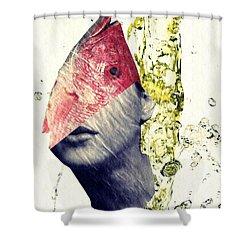 Fishhead Shower Curtain by Sarah Loft