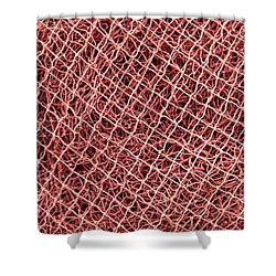 Fishing Nets Shower Curtain by Gaspar Avila
