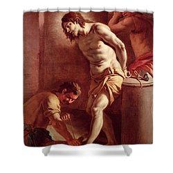 Flagellation Of Christ Shower Curtain by Pietro Bardellini