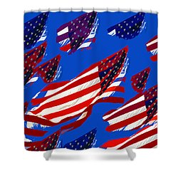Flags American Shower Curtain by David Lee Thompson