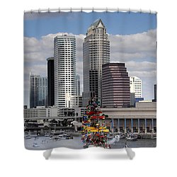 Flags Of Gasparilla Shower Curtain by David Lee Thompson