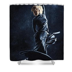 Flamenco Dexterity Shower Curtain by Richard Young