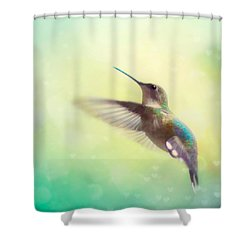 Flight Of Fancy - Square Version Shower Curtain by Amy Tyler