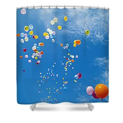 Float Away Shower Curtain by Bob Abraham - Printscapes