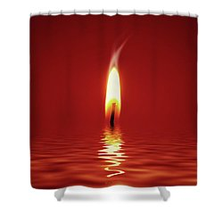 Floating Candlelight Shower Curtain by Wim Lanclus