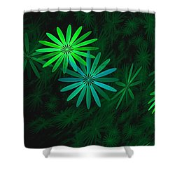 Floating Floral-007 Shower Curtain by David Lane