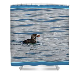 Floating Rhino Shower Curtain by BYETPhotography