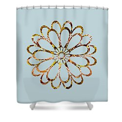 Shower Curtain featuring the painting Floral Design Ornament by Frank Tschakert