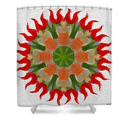 Floral Flare Shower Curtain by Jeff Kolker