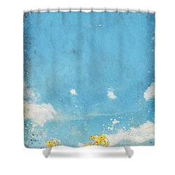 Floral In Blue Sky And Cloud Shower Curtain by Setsiri Silapasuwanchai