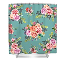 Floral Pattern 2 Shower Curtain by Stanley Wong