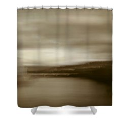 Shower Curtain featuring the painting Florence, Arno River, Abstract Landscape by Frank Tschakert